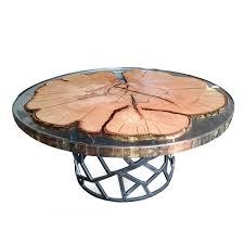 Couchtisch Epoxidharz Oval Eagle Design