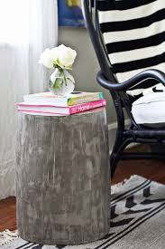 Cement side table Small Beautiful Mess Diy Lightweight Cement Side Tables Beautiful Mess