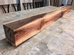 68 x 5 25 x 5 75 solid walnut mantel beam solid walnut great mantle beam x 185