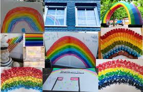 Ihr habt bestimmt schon mal bei instagram so tolle bilder gesehen, wo jemand unterm regenbogen steht. Regenbogen Gegen Corona Aktion
