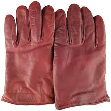 men s giorgio armani size m burdy lamb skin leather gloves