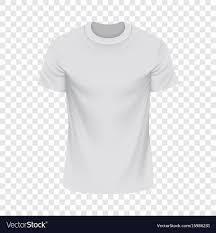 Mock Up Tshirt White Tshirt Mockup Realistic Style Royalty Free Vector
