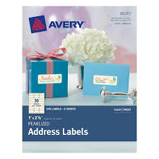 Amazon Com Avery Pearlized Address Labels 0 1 X 2 5 8 Pack