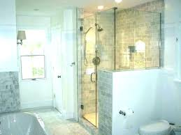 showers half glass shower wall walls com with regard to plan showers solid surface