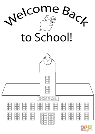 Small Picture Welcome Back to School coloring page Free Printable Coloring Pages