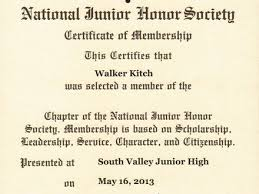 31 National Honor Society Certificate Template National Honor