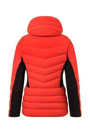 Ski Jacket Kjus Women Duana Jacket Fiery Red Black