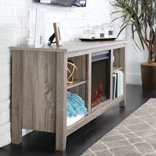58-inch Driftwood Wood TV Stand with Fireplace - Free Shipping Today -  Overstock.com - 17421930