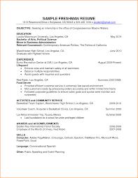 freshman resume format cipanewsletter 10 freshman college resume format invoice template