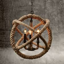 rope light chandelier rope perfectshow lights hemp rope ball chandelier retro country style
