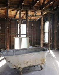 once that side of the house was all rebuilt it was pretty exciting to picture the tub going back in there this time on le footing