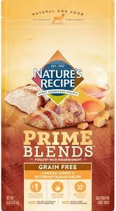 nature s recipe prime blends en turkey and ernut squash recipe grain free dry dog food