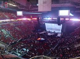 Key Arena Detailed Seating Chart Keyarena Section 210 Concert Seating Rateyourseats Com