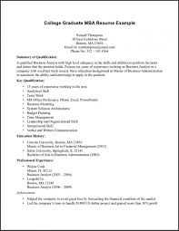 Sample Resume For Recent College Graduate With No Experience Entry ...