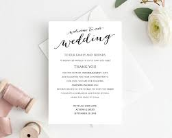 Welcome Card Templates Welcome To Our Wedding Card Wedding Templates And Printables