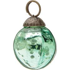 mini vintage green mercury glass ornament ball design hanging ornaments decorations and supplies wedding essentials wedding favors party