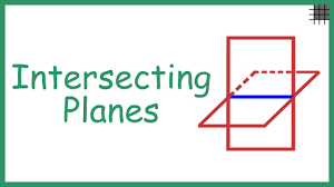 intersecting planes. what are intersecting planes? planes n