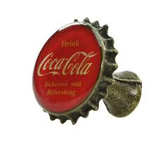 Drink Coca-Cola Red Bottle Cap Drawer Pull | Kitchen and Bath Accessories |  RetroPlanet.com