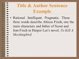 writing the response to literature rtl essay ppt to kill a mockingbird title author sentence example