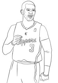 Chris Paul Coloring Page Free Printable Coloring Pages