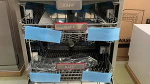 KAFF.vn - Thiết Bị Nhà Bếp Nhập Khẩu Germany - MÁY RỬA CHÉN BÁT TỰ ĐỘNG  NHẬP KHẨU KAFF KF-W60C3A401L ( Máy lớn, 14 bộ đồ ăn Châu Âu): ( MADE IN