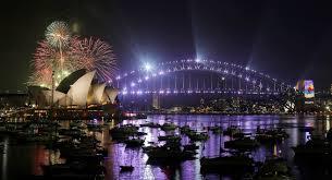 Resultado de imagem para fogos de ano novo 2018 australia