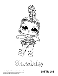 Showbaby Coloring Page Lotta Lol Coloring Coloring Pages Lol
