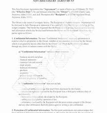 Simple Nda Template Free Free Non Disclosure Agreement Template Word Free Luxury Basic Nda