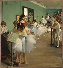 edgar degas the class 1874
