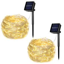 Solar Led Copper Wire Lights Aoyoo Solar Powered String Lights 100 Led Copper Wire Lights 8 Modes Starry Lights Waterproof Ip65 Fairy Lights For Outdoor Wedding Homes Party