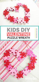 a simple and fun valentine wreath kids craft this piece of my heart wreath is