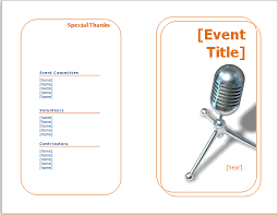 Template For A Program For An Event Event Program Editable Printable Word Template Document Templates