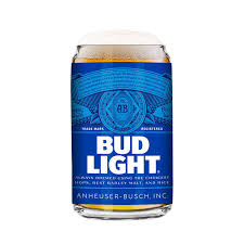 Bud Light Bud Light 2 Pack Can Beer Glass 16oz