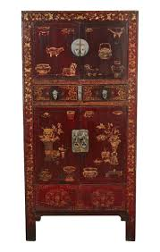 red lacquered furniture. black u0026 red chinese chinoiserie lacquered cabinet folk art traditional asian cabinets dering hall furniture r