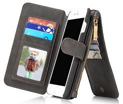 caseme iphone 8 plus zipper wallet detachable flip case
