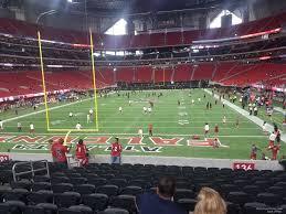 Atlanta Falcons Seating Chart With Rows Mercedes Benz Stadium Section 136 Atlanta Falcons