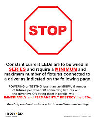 constant cur leds are to be wired in series and inter lux manualzz com