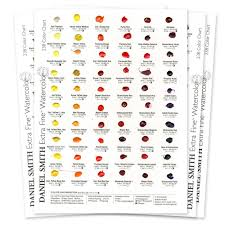Dot Chart 14 Daniel Smith 238 Dot Hand Painted Watercolor Paint Chart