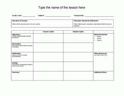Planning a Demo Lesson     Quick Tips   Scholastic  esl lesson plan template and worksheet for your students