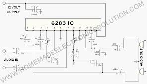 stereo audio amplifier simple steps 6283 stereo amplifier circuit png