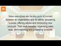 Sales Executive Job Description What Is A Sales Executive Job Description Youtube