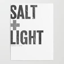 Salt And Light Poster Salt Light Cross Bible Christian Matt 513 17 Gray Distressed Poster By Knuxxshop