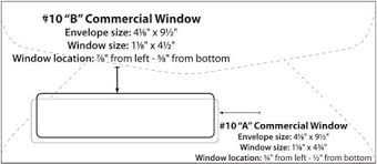 Size Of 10 Envelope Envelope Templates Commercial Window Envelope Template Wsel