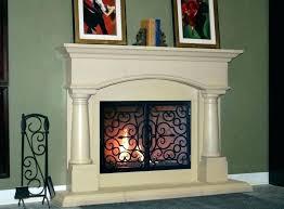 fireplace cover up doors home depot glass screen