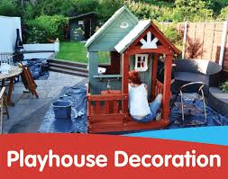 how to decorate your wooden playhouse