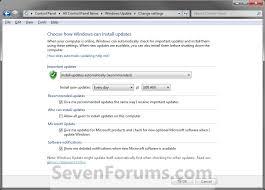 How To Update Windows 7 Windows Update Settings Change Windows 7 Help Forums