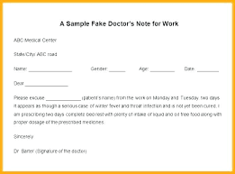 Fake Doctors Note For University Fake Doctors Note Template Free Excuse Dr