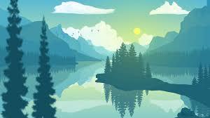 Sunrise Landscape And Design Landscape Flatdesign Sunrise Photoshop Cs6 Vector