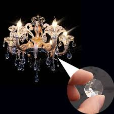 50pcs clear glass crystals chandelier pendant lamp prisms parts hanging drops 18mm