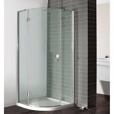 simpsons design single door hinged quadrant shower enclosure